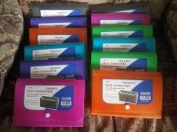 12- 5 Pocket Expanding Files Coupon Organizer Wallet Size Qt