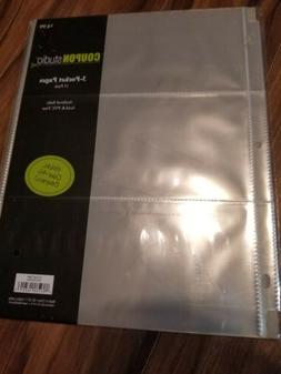 Coupon Sleeves Pages for Binder 3 Pockets -Currency coupon