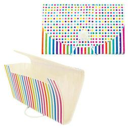 2 Coupon Organizer 6 Pocket Holder Expanding File Wallet Org