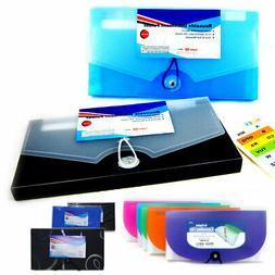2Pc 13 Pocket Expanding Document File Accordion Organizer Sc