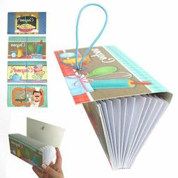 4 Pk 12 Pocket Coupon Organizer Holder Expanding File Wallet