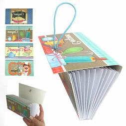4 Pk 12 Pocket Coupon Organizer Holder Expanding File Wallet