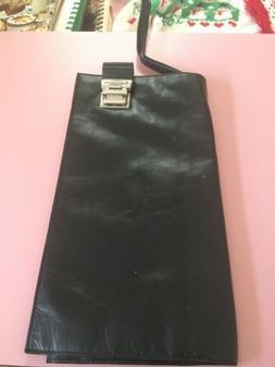 Black Leather Coupon Organizer Rare