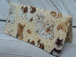 breed dogs puppies checkbook cover wallet document