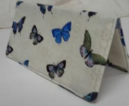 butterflies checkbook cover document coupon organizer usa