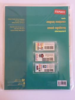 Staples Clear Coupon Pages 10 3 Pocket Sheets 3 Ring Organiz