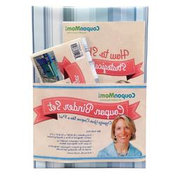 COUPON MOM ORGANIZING BINDER - BLUE STRIPE DESIGN By Stephan