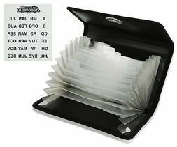 Coupon Organizer with Retractable Pad