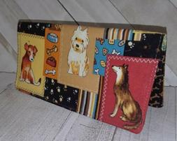 Dog Wallet Debit Checkbook Cover Document Coupon Organizer F