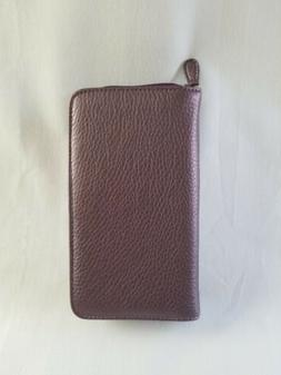 faux leather coupon organizer cash envelope zip