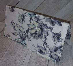 Grey Fabric Wallet in Rose Garden Print Document Coupon Orga
