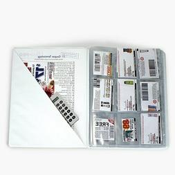 Grocery Coupon Book Organizer Binder Clips Store Food Sales