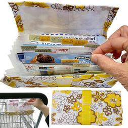 Evelots Grocery Coupon Organizer-12 Plastic Dividers-Hook &