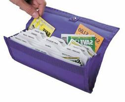 hannah direct DELUXE Coupon Organizer in BRIGHT PURPLE