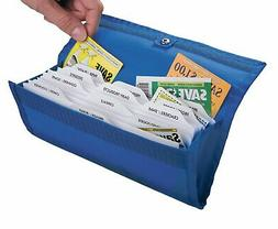 hannah direct DELUXE Coupon Organizer in BRIGHT BLUE
