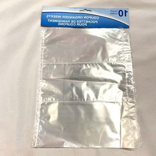 1 pack 10 count 3 pocket coupon