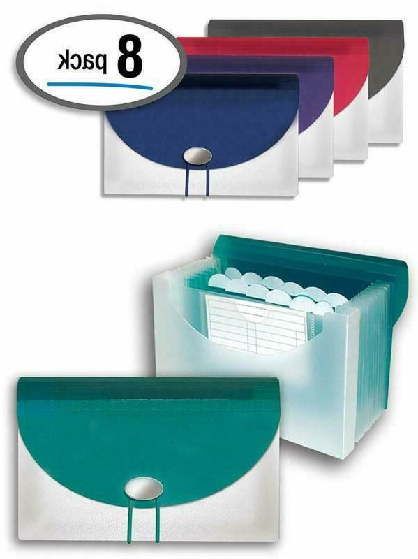 13 pocket coupon file organizer with extra