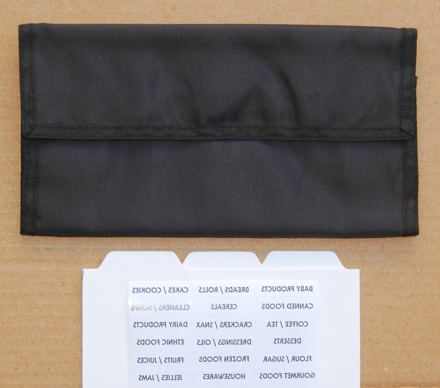 black coupon organizer holder