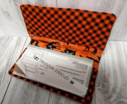CATS Wallet Document Coupon Organizer Fabric Print USA