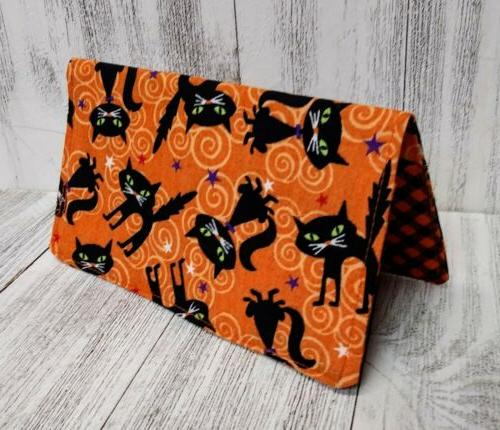 cats wallet checkbook cover document coupon organizer