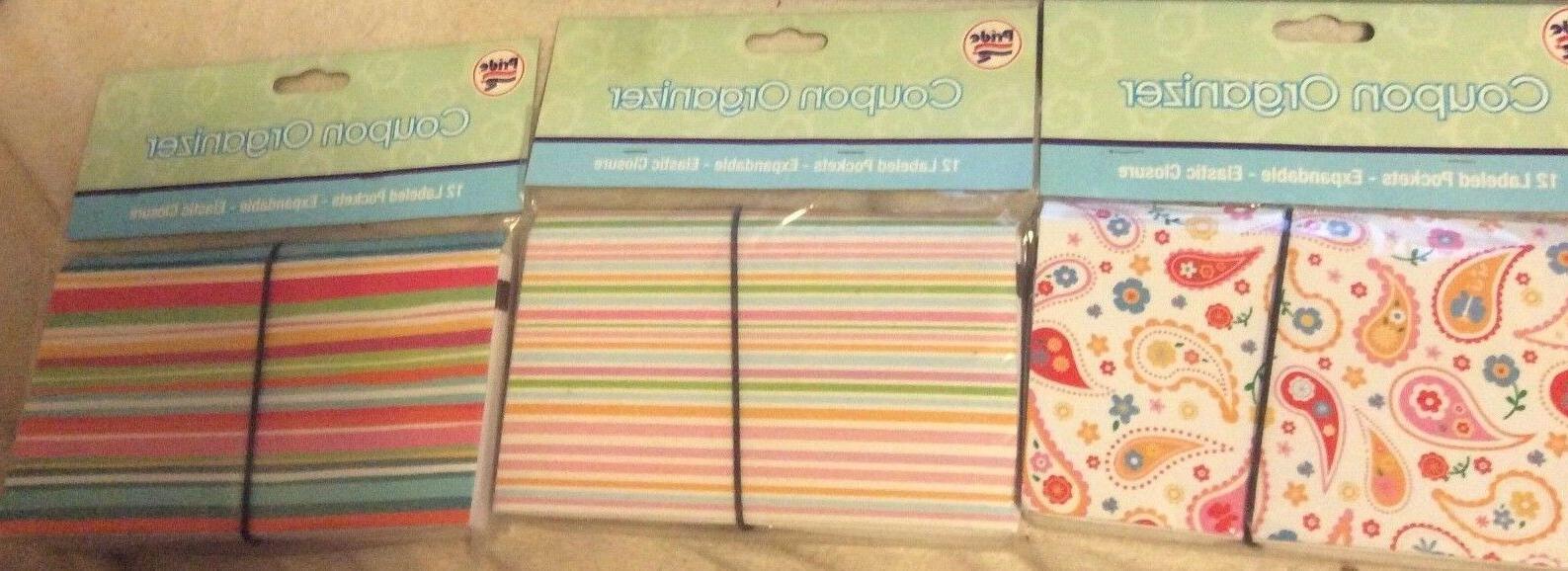 coupon holder organizer 12 pockets expandable elastic