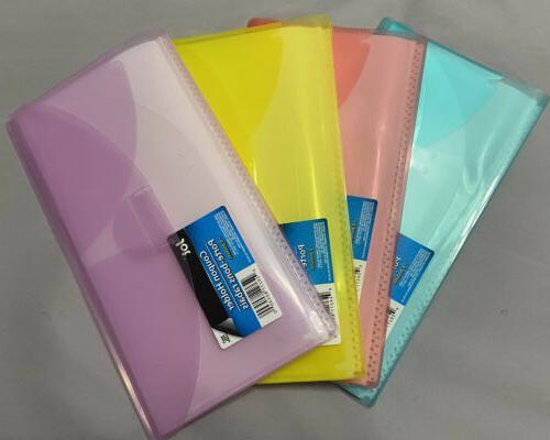 Jot Holder Organizer Wallet Blue 6 Pockets