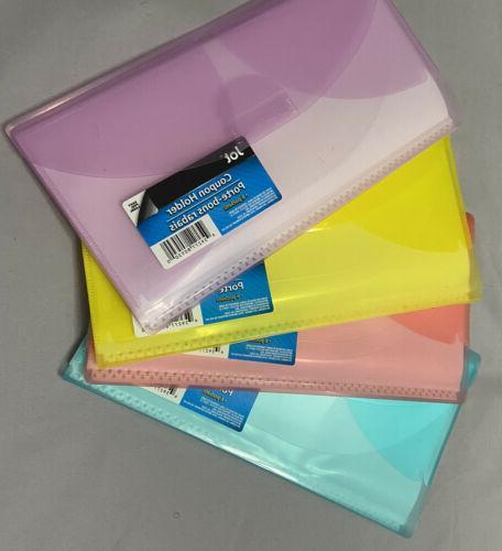 coupon holder organizer wallet purple yellow orange