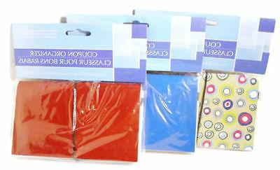 coupon organizer 12 pockets with labels assorted