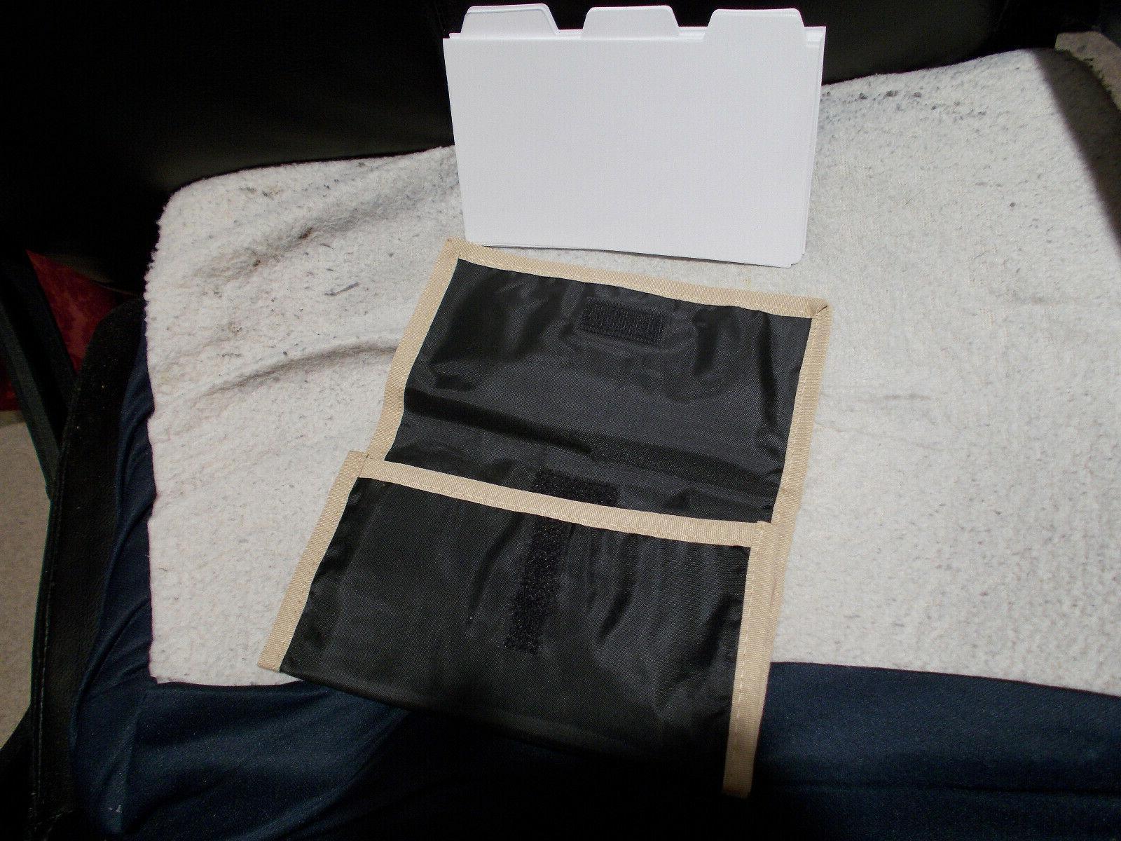 coupon organizer black with beige trim