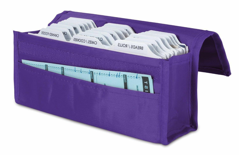 coupon organizer in purple