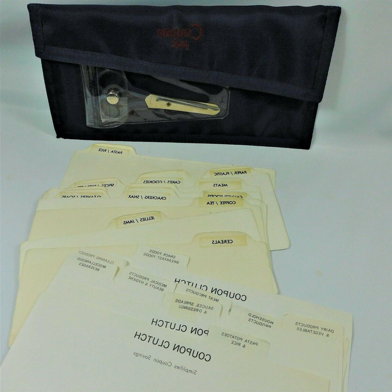 coupon organizer w scissors 24 dividers navy