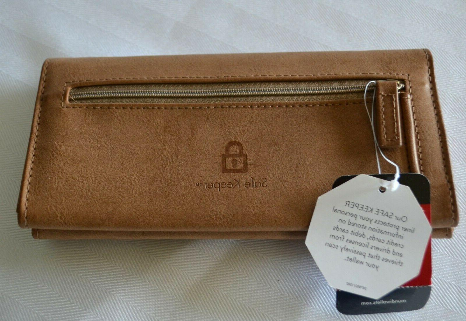 Mundi File Wallet Brown Travel Organizer