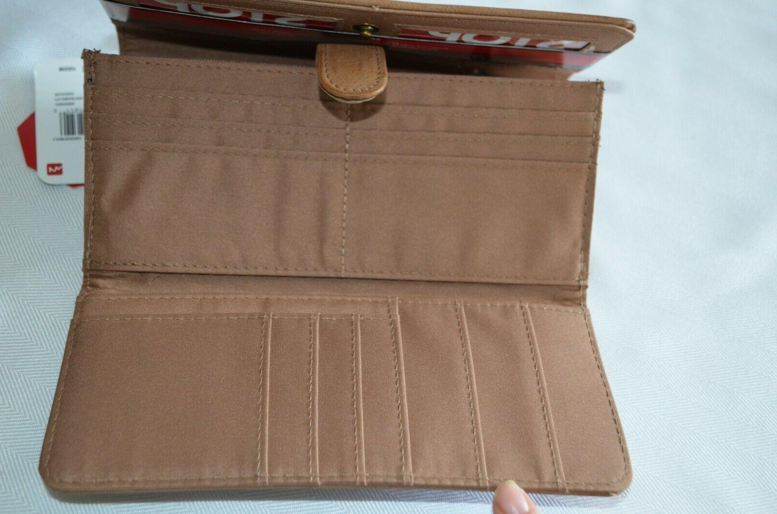 Mundi Safekeeper Wallet Clutch Brown Travel Organizer