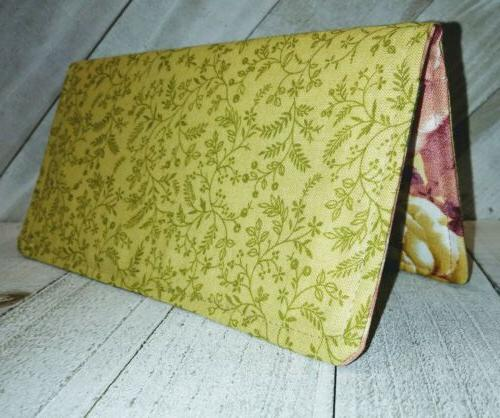 gold leaf checkbook cover wallet document coupon