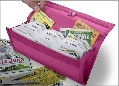 hannah direct deluxe coupon organizer in black