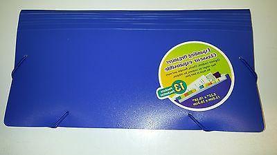large coupon organizer 13 pockets expandable elastic