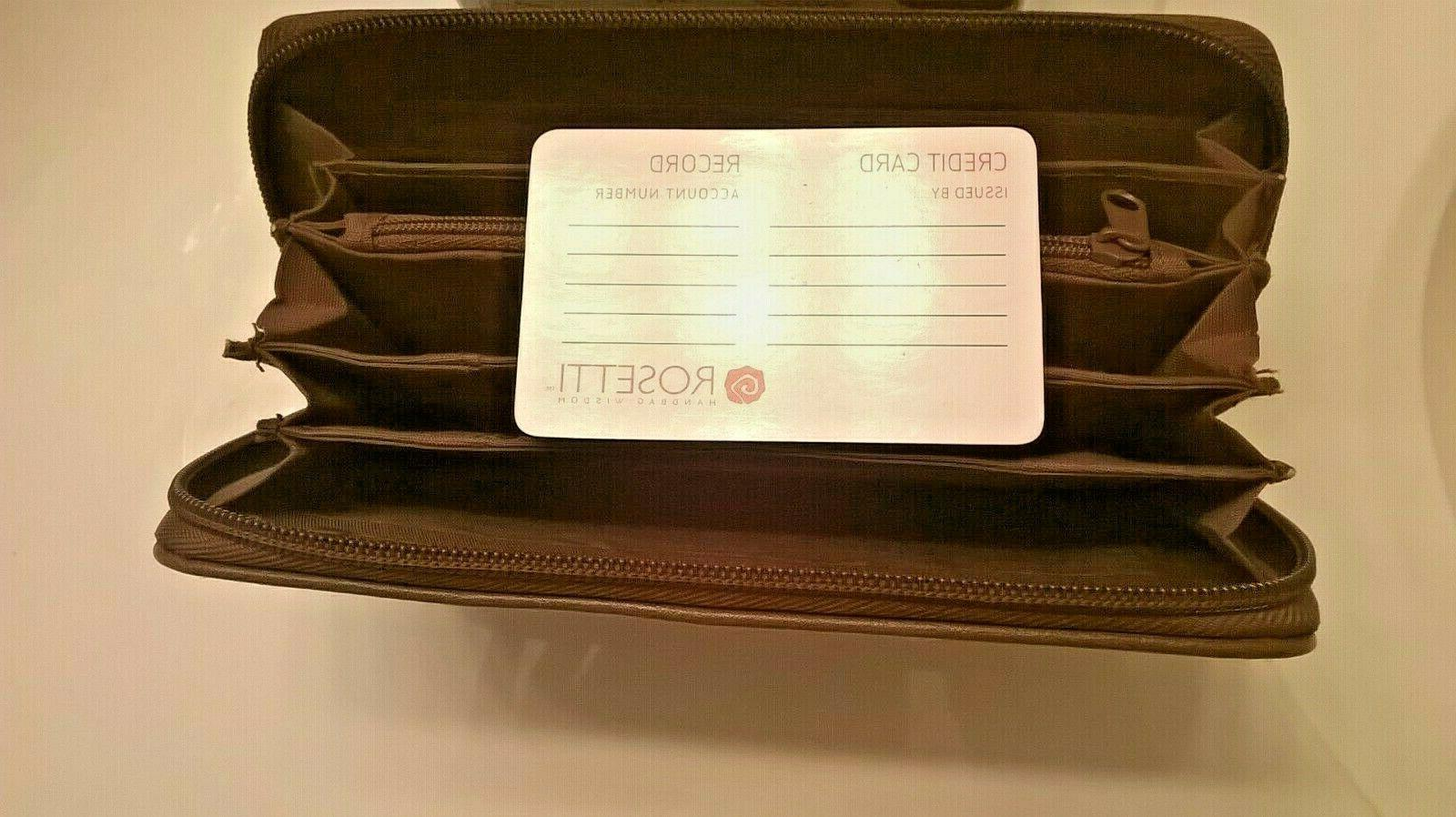 Rosetti Wallet Coupons, Checkbook, Debt Cards