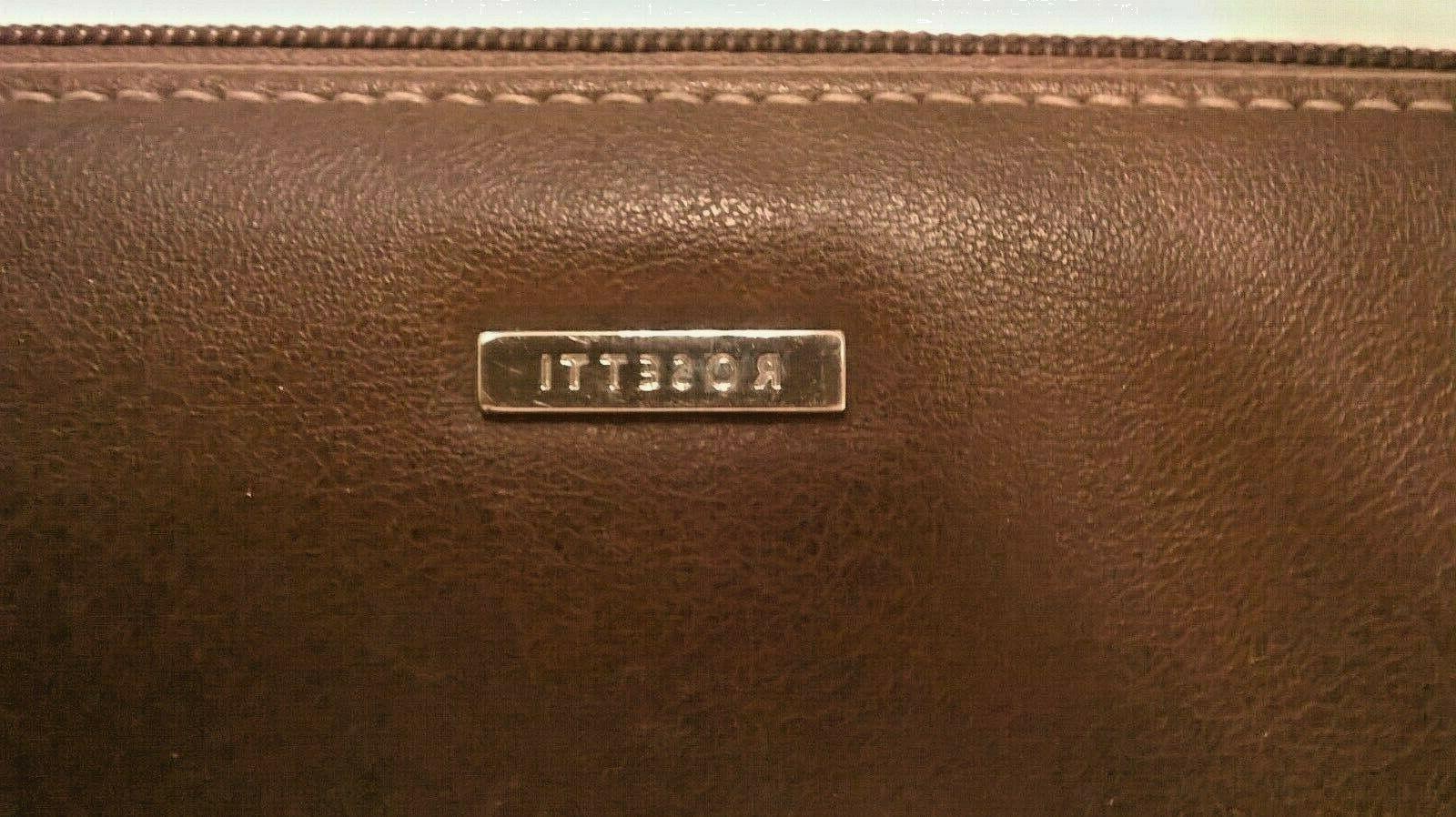 Rosetti Leather Clutch Wallet Checkbook,
