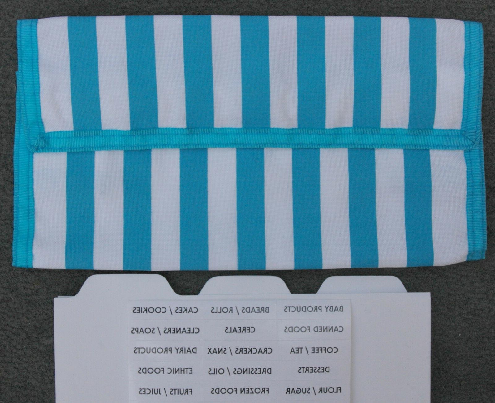 light blue stripe coupon organizer