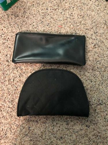 lot of 2 black cosmetic bags