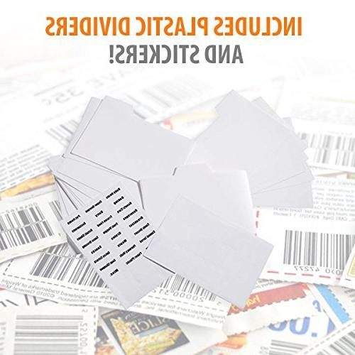Modern - Extreme Coupon 24 Plastic Coupon Dividers Material Canvas.