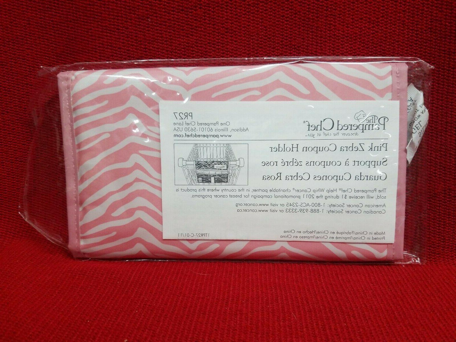 pink zebra coupon holder