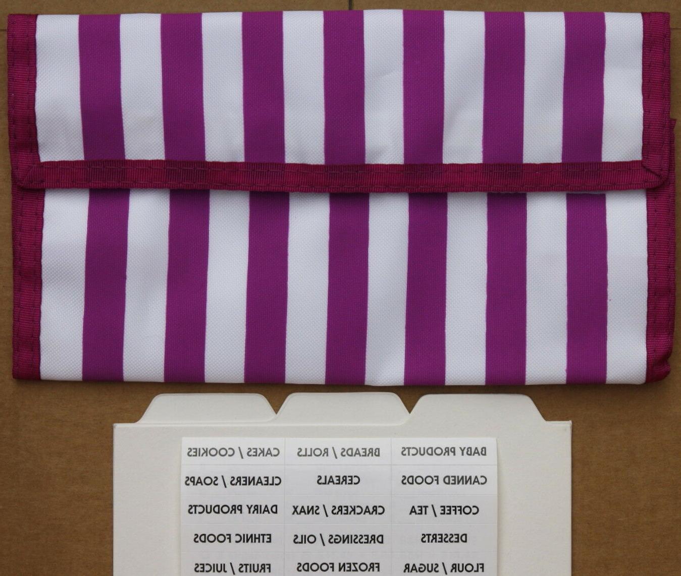 purple stripe coupon organizer