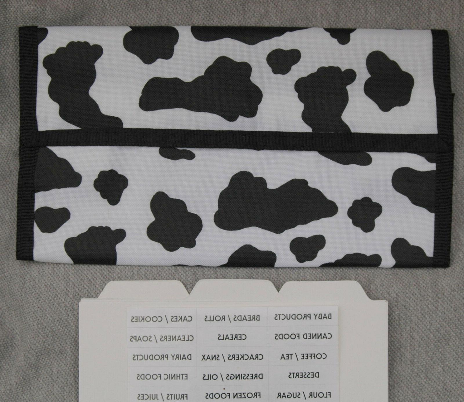 sale cow pattern coupon organizer holder