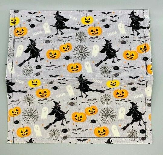 Vintage Halloween Fabric Wallet. Holder.