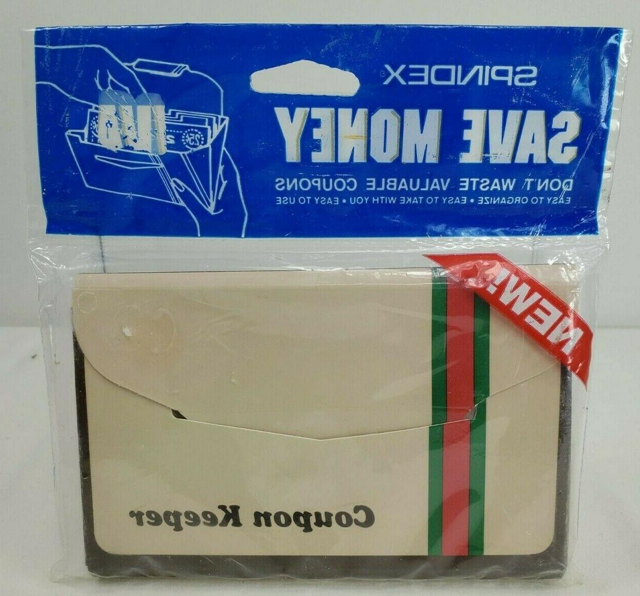 vintage nos coupon keeper 12 indexed coupon