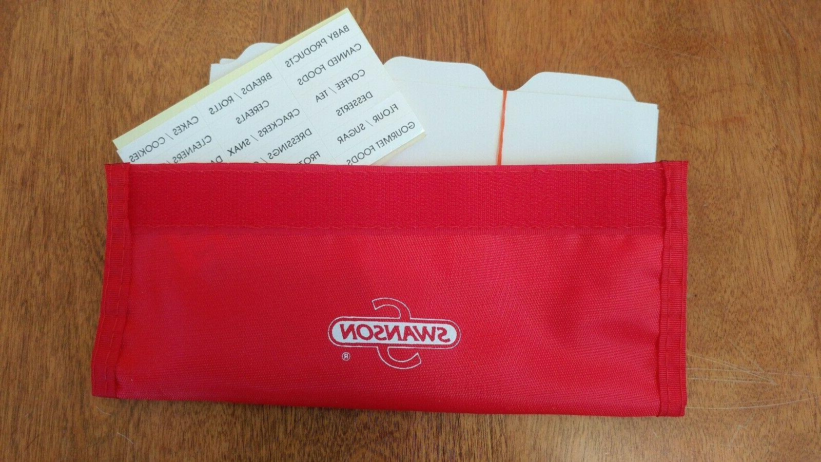 Vtg Swanson Wallet w/ Dividers Labels Stickers Nylon? NEW