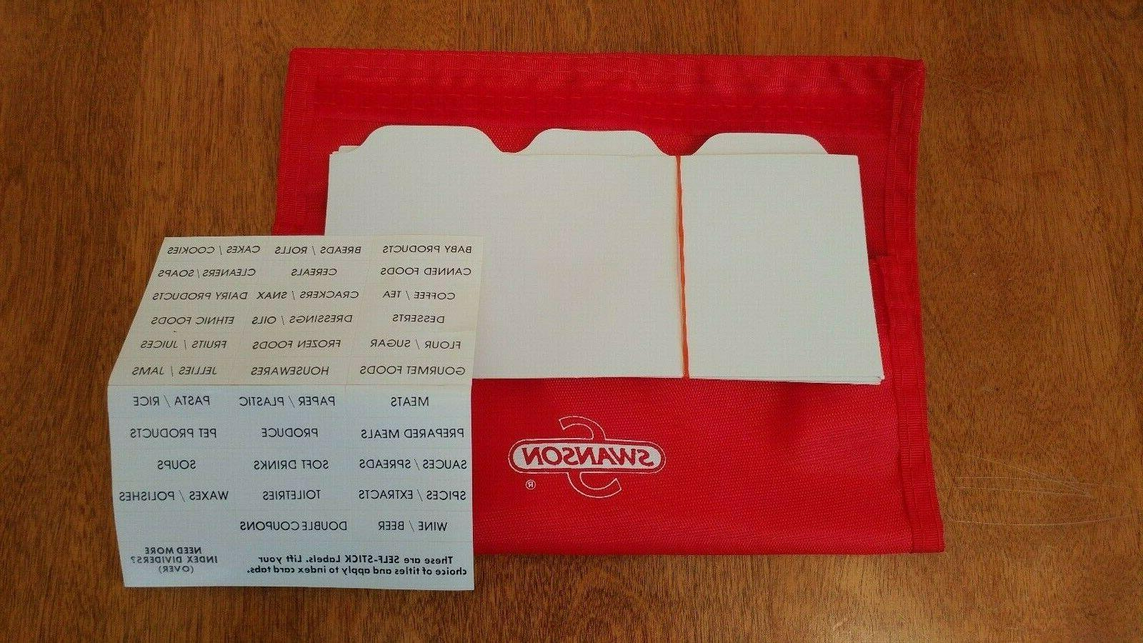 Vtg Coupon Organizer Wallet w/ Labels Stickers Nylon? NEW