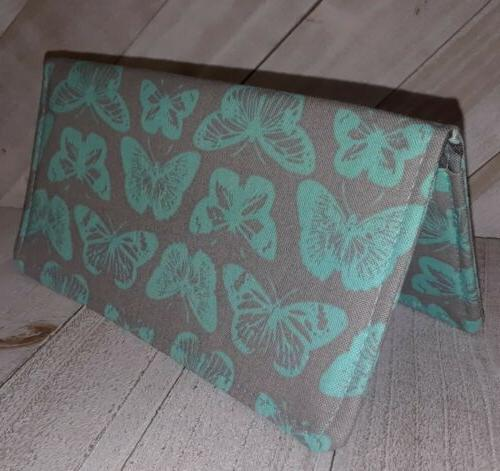 wallet checkbook cover document coupon organizer butterfly