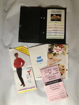Lot Vintage Weight Watchers Paperwork Organizer Food Lists P